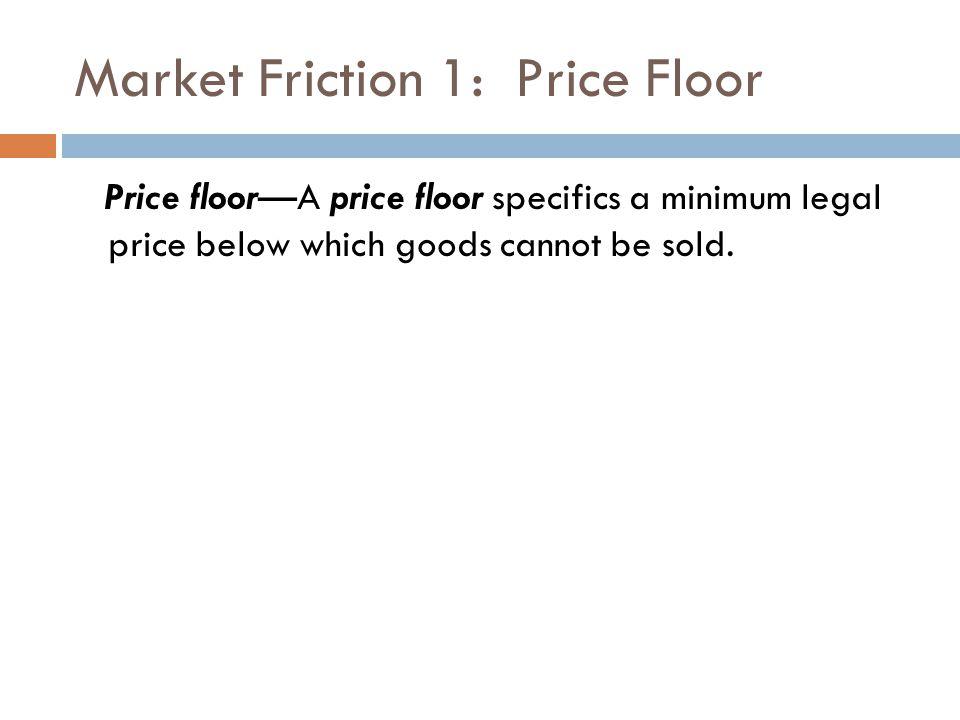 Market Friction 1: Price Floor