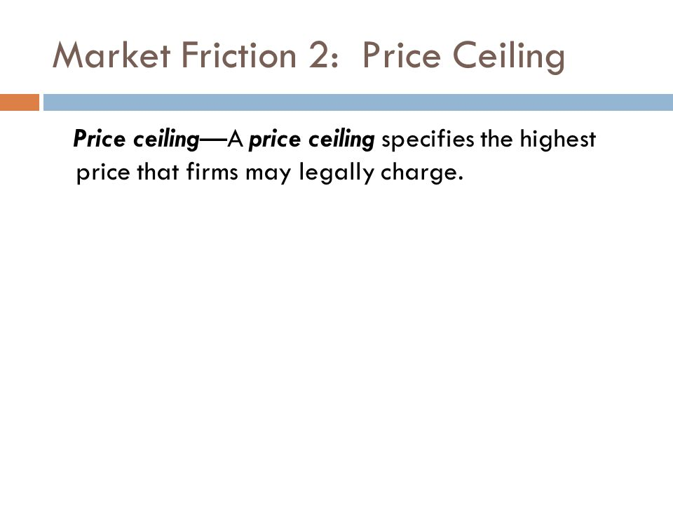 Market Friction 2: Price Ceiling