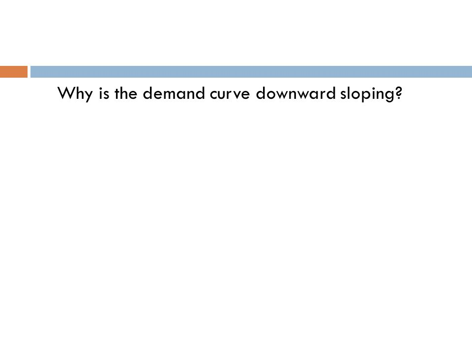 Why is the demand curve downward sloping