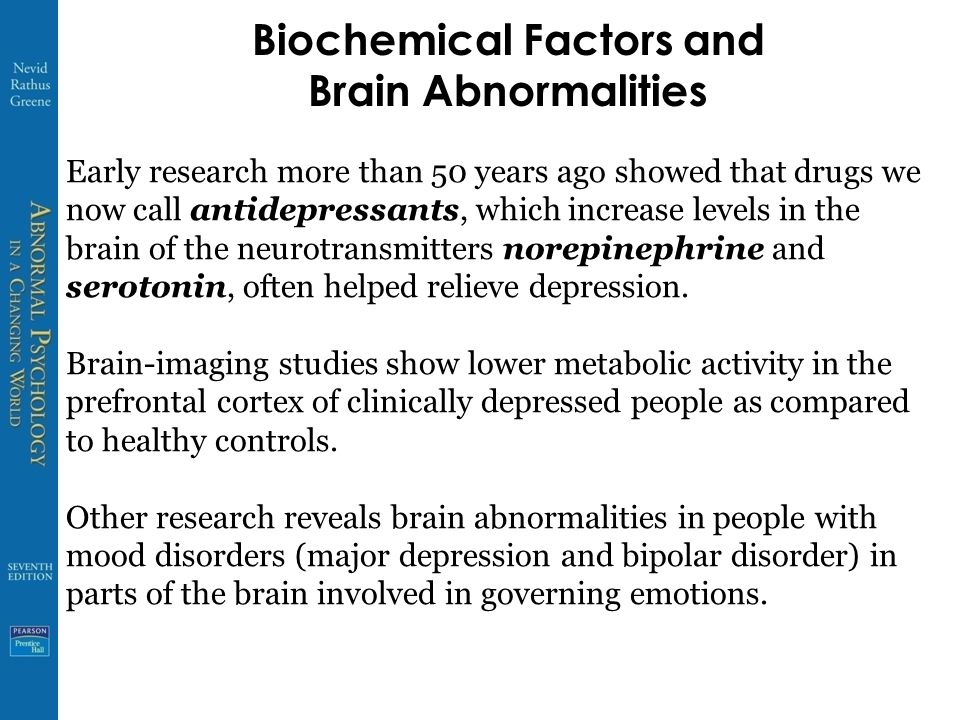 Biochemical Factors and Brain Abnormalities