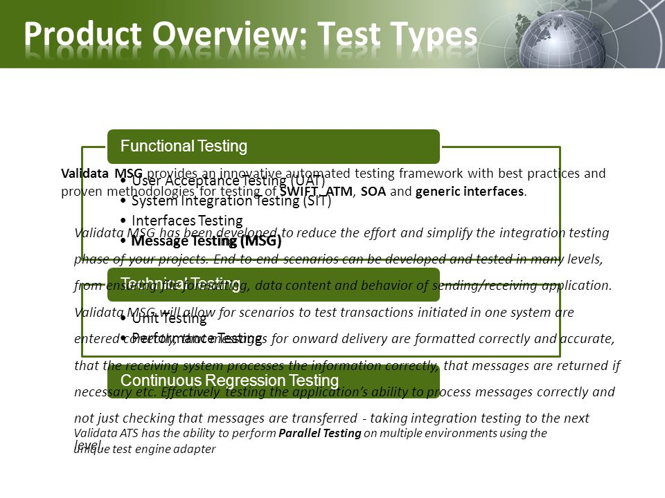 Product Overview: Test Types