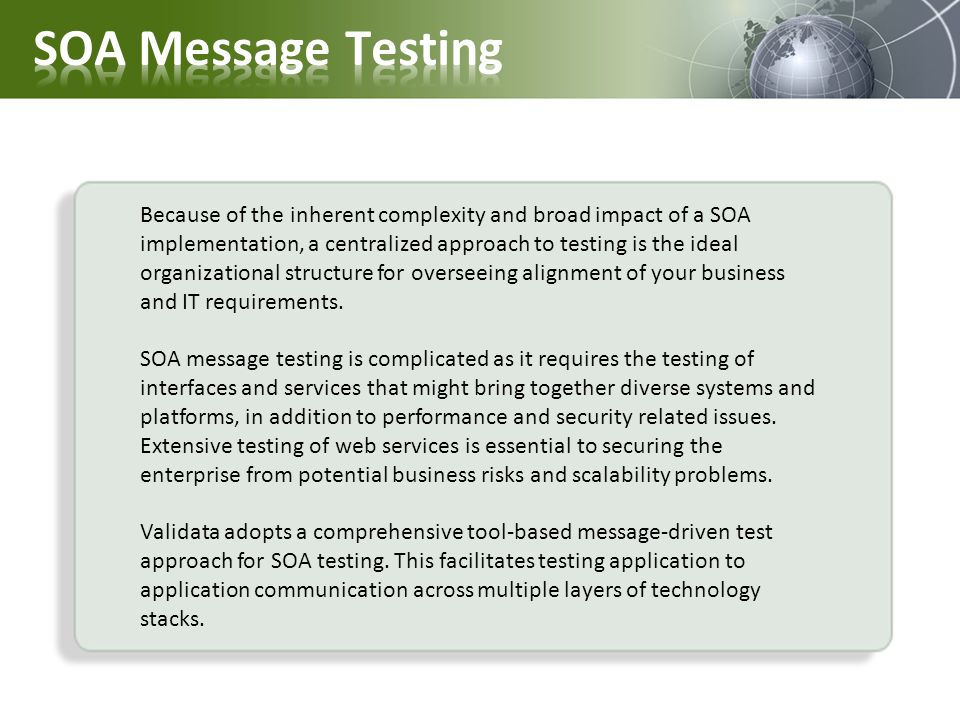 SOA Message Testing