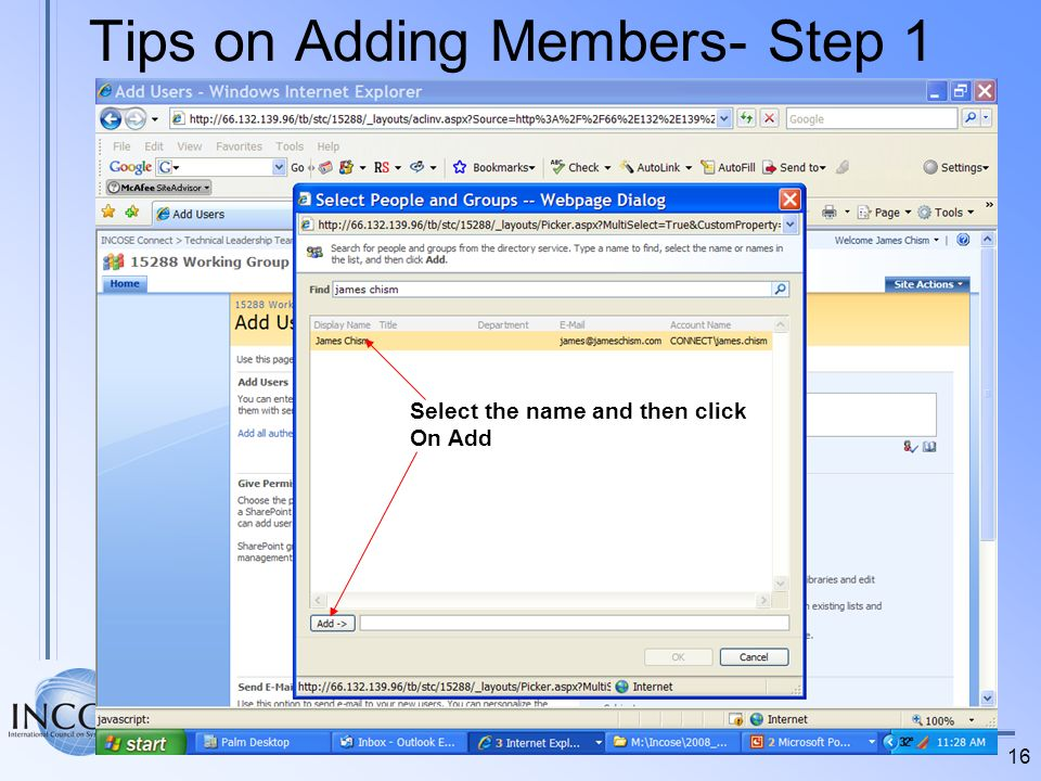 Tips on Adding Members- Step 1