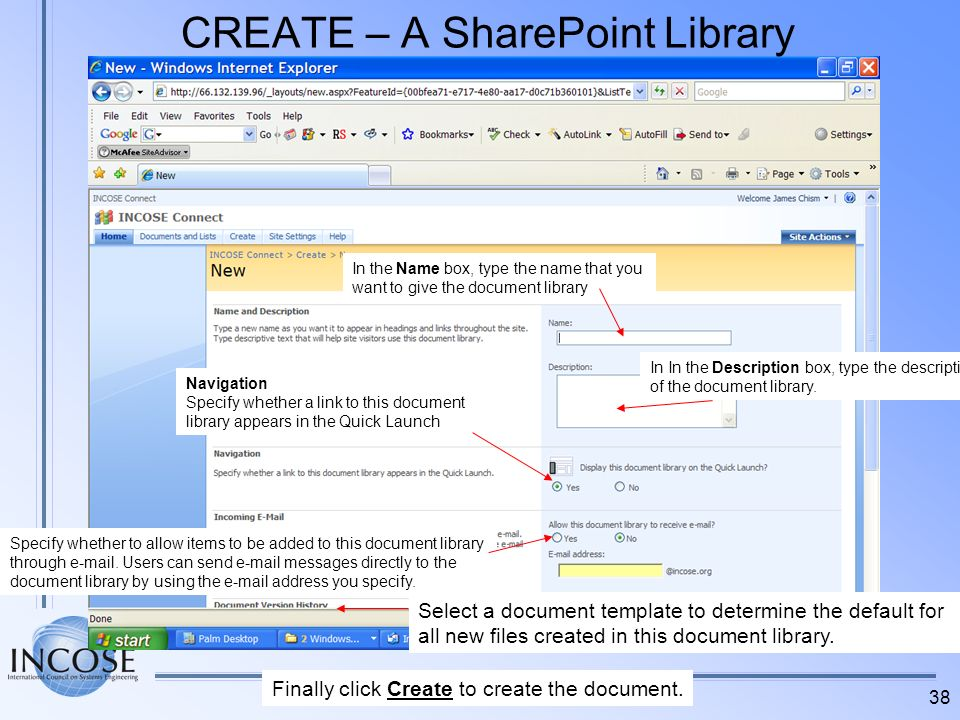 CREATE – A SharePoint Library