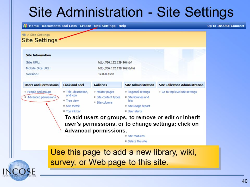 Site Administration - Site Settings