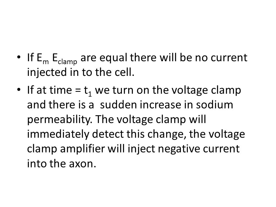 If Em Eclamp are equal there will be no current injected in to the cell.