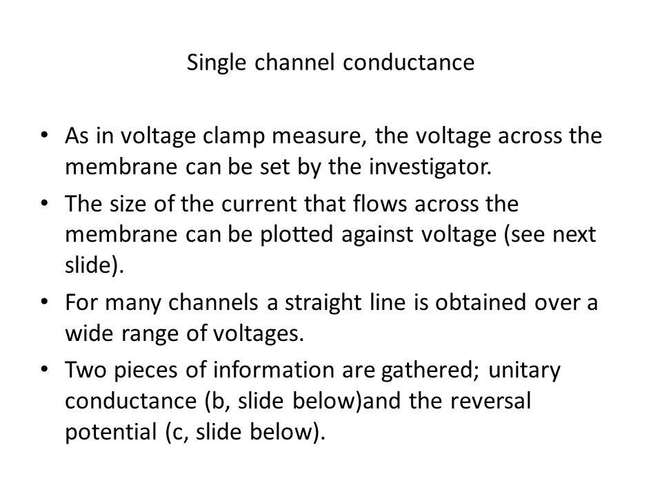 Single channel conductance