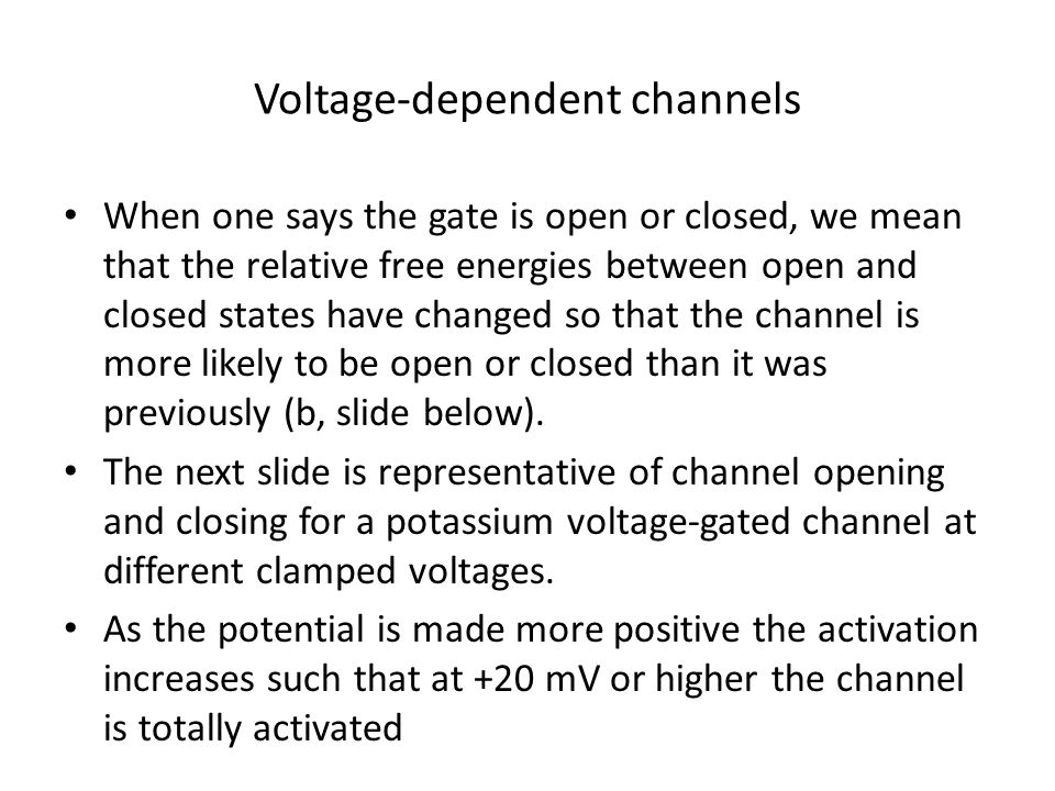 Voltage-dependent channels