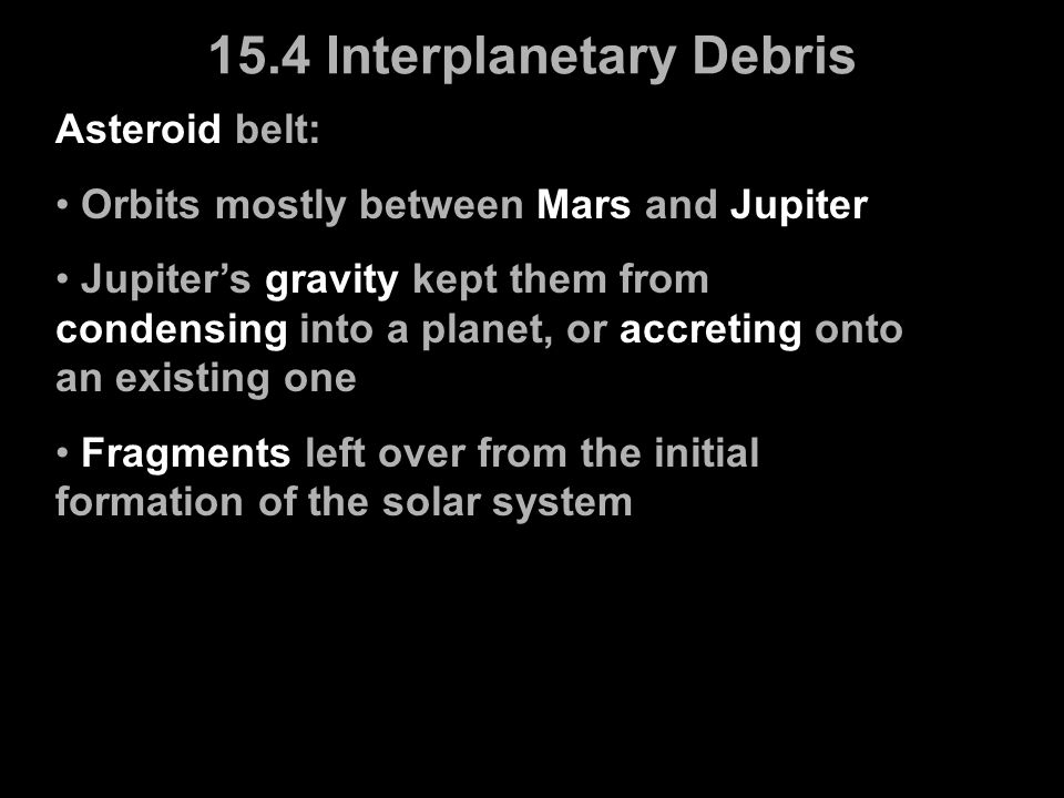15.4 Interplanetary Debris