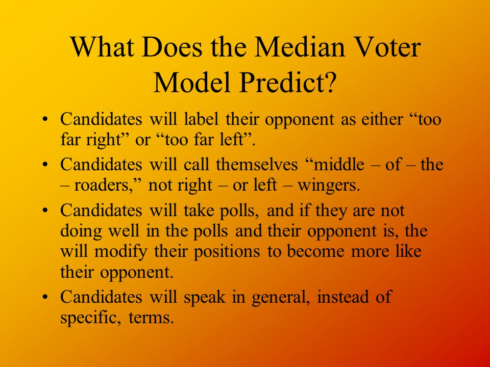 What Does the Median Voter Model Predict