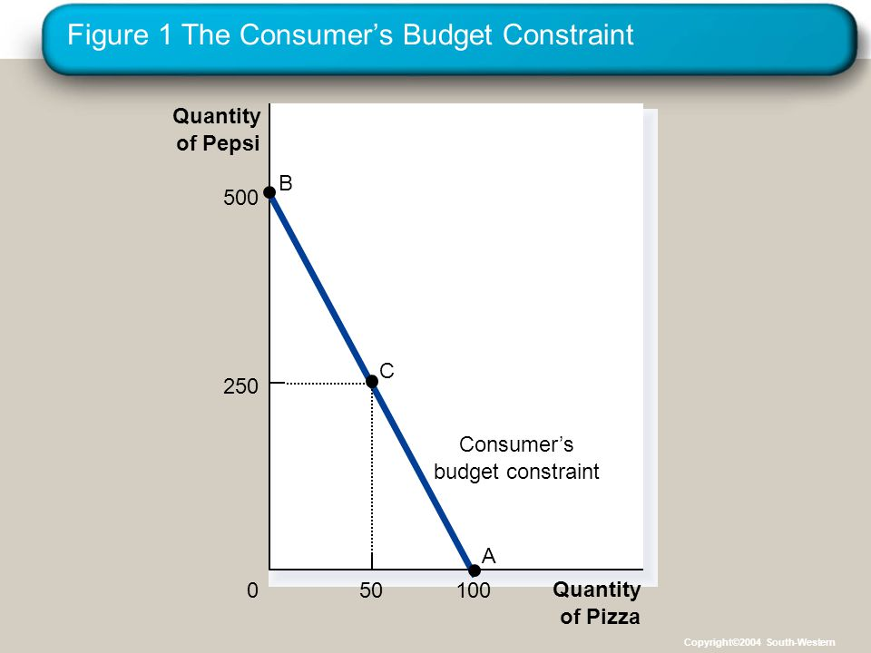 Figure 1 The Consumer's Budget Constraint