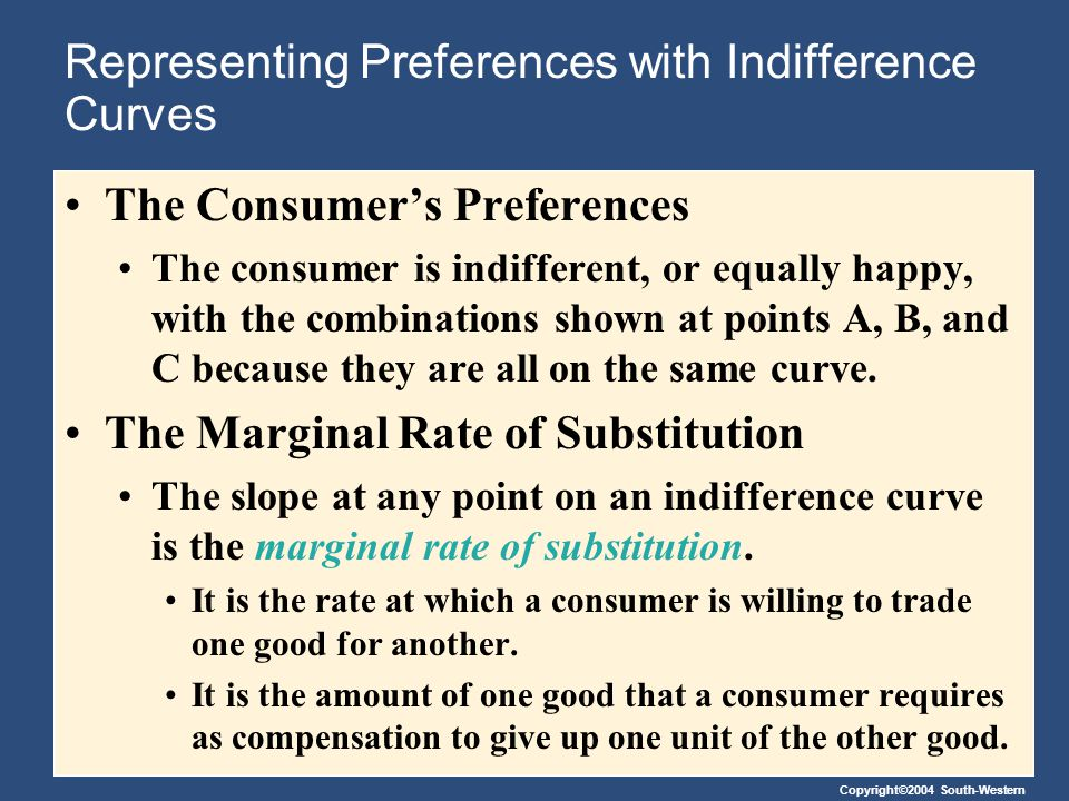 Representing Preferences with Indifference Curves