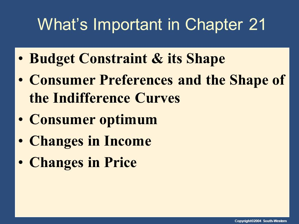 What's Important in Chapter 21