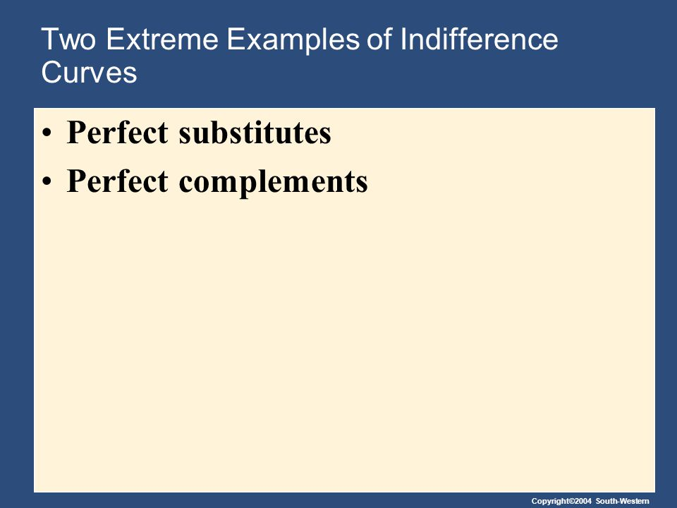 Two Extreme Examples of Indifference Curves