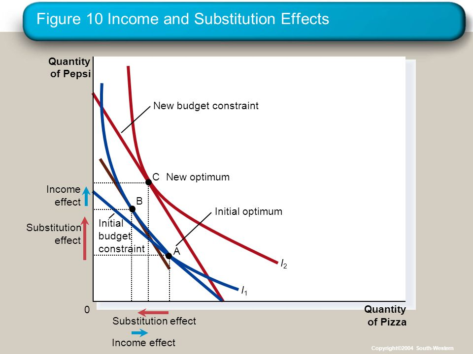 Figure 10 Income and Substitution Effects