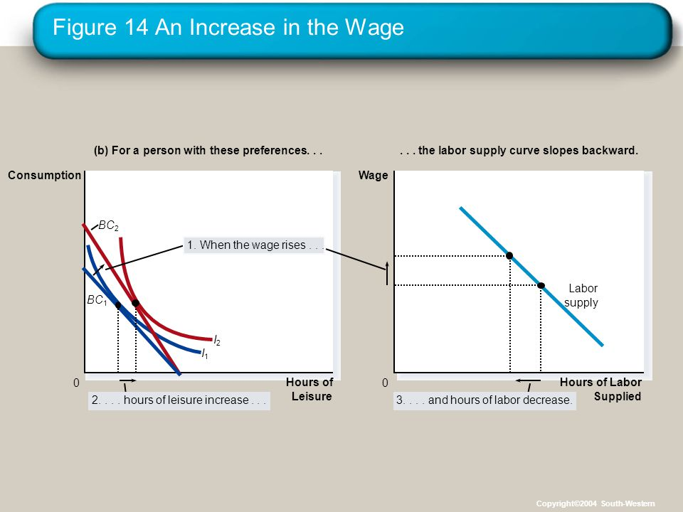 Figure 14 An Increase in the Wage