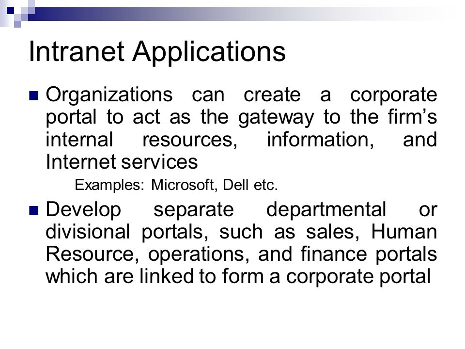 Intranet Applications