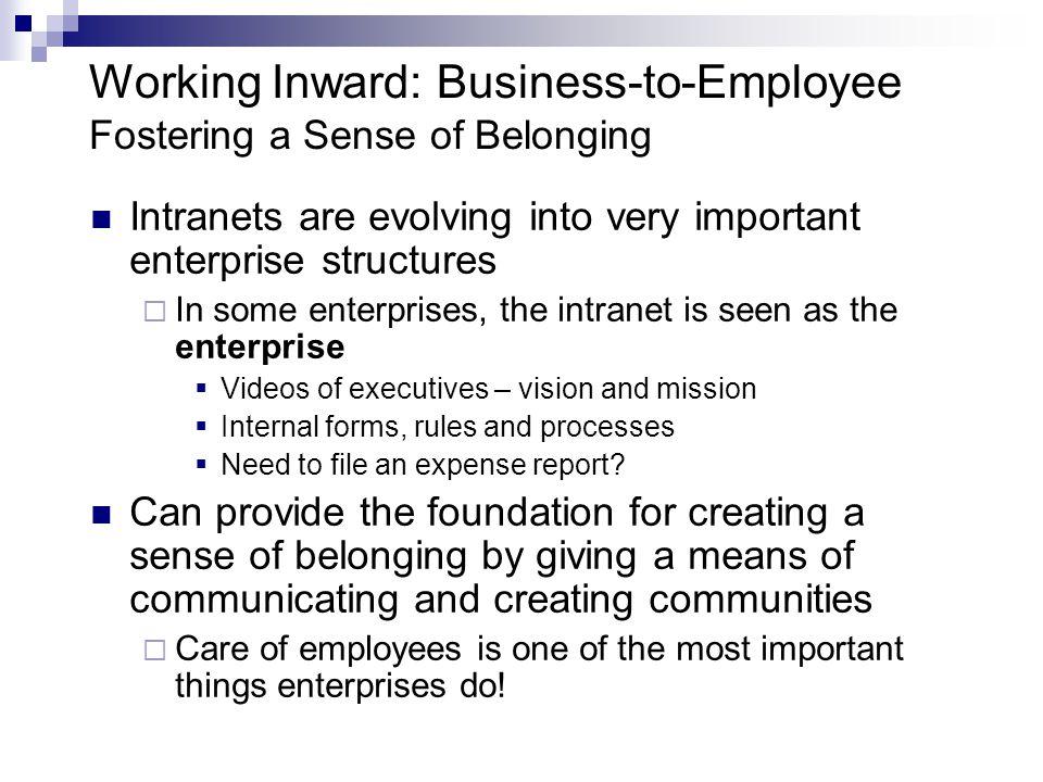Working Inward: Business-to-Employee Fostering a Sense of Belonging