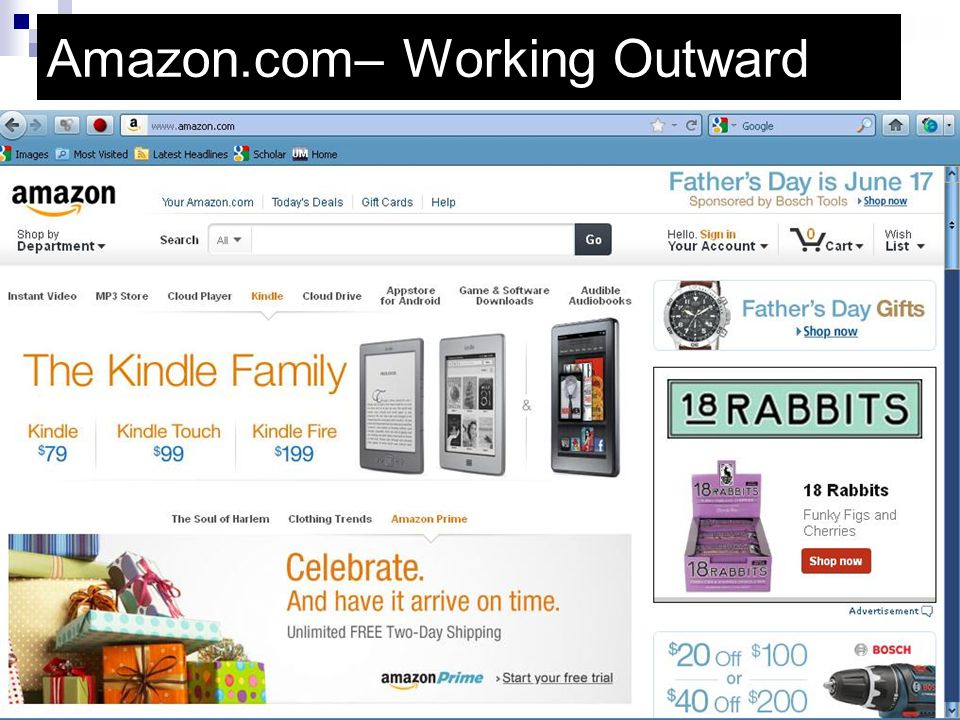 Amazon.com– Working Outward