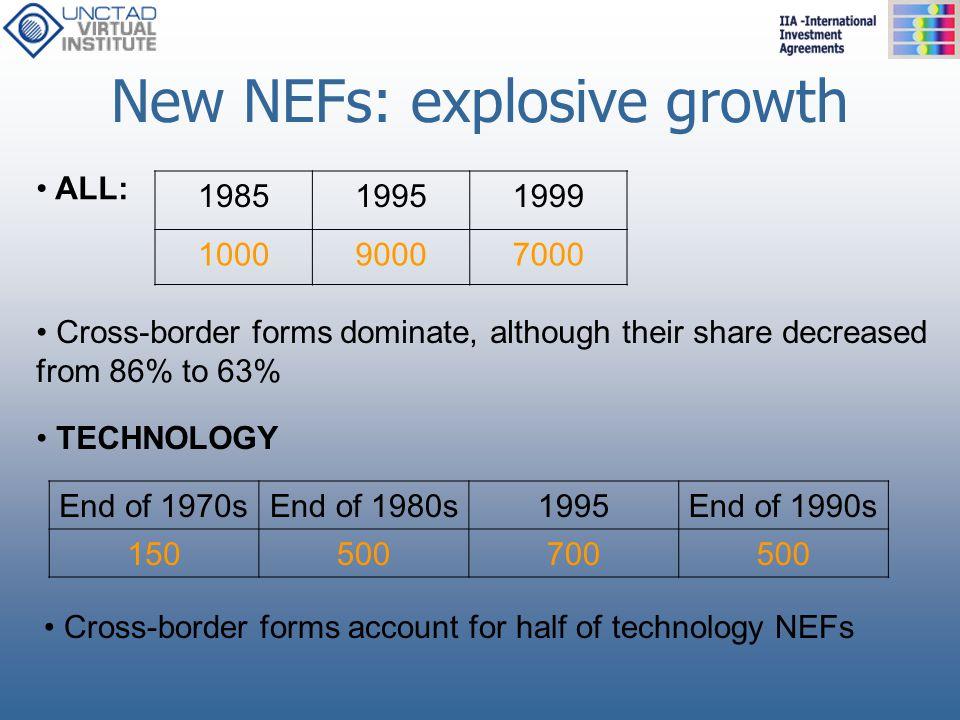 New NEFs: explosive growth