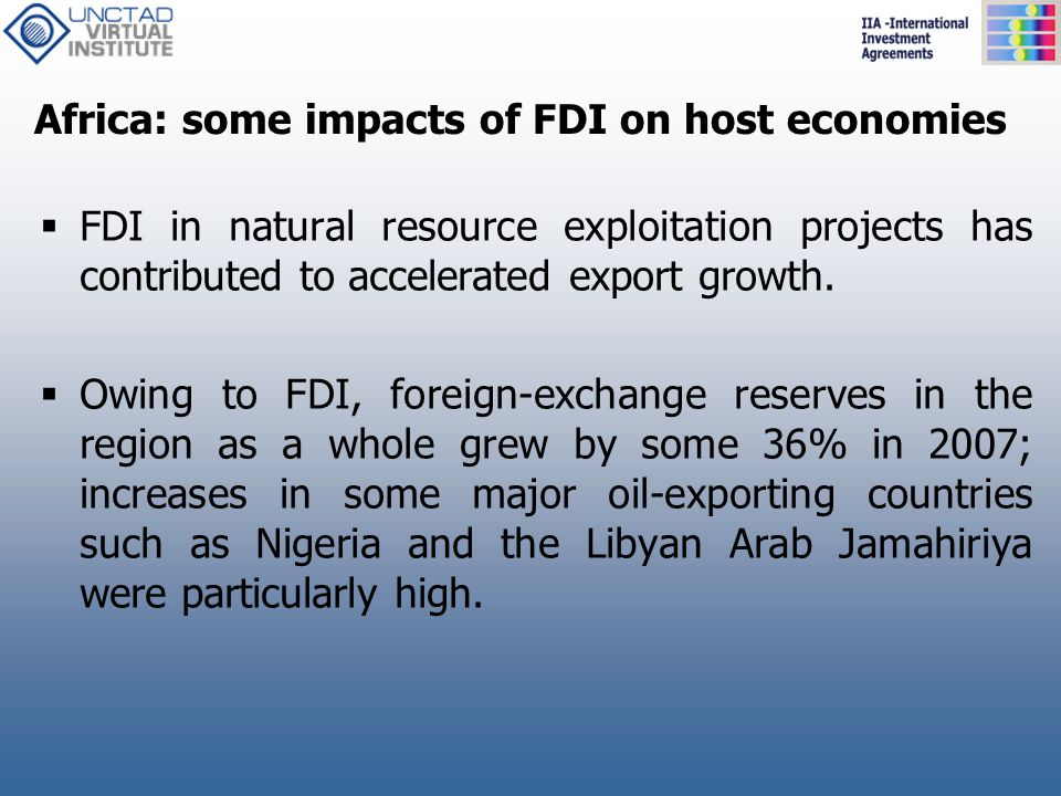 Africa: some impacts of FDI on host economies