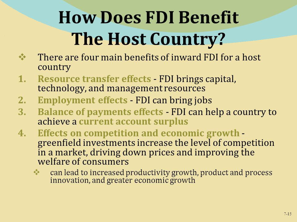 How Does FDI Benefit The Host Country