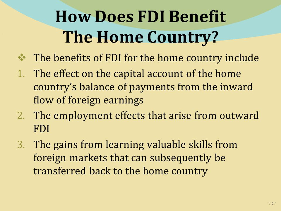 How Does FDI Benefit The Home Country