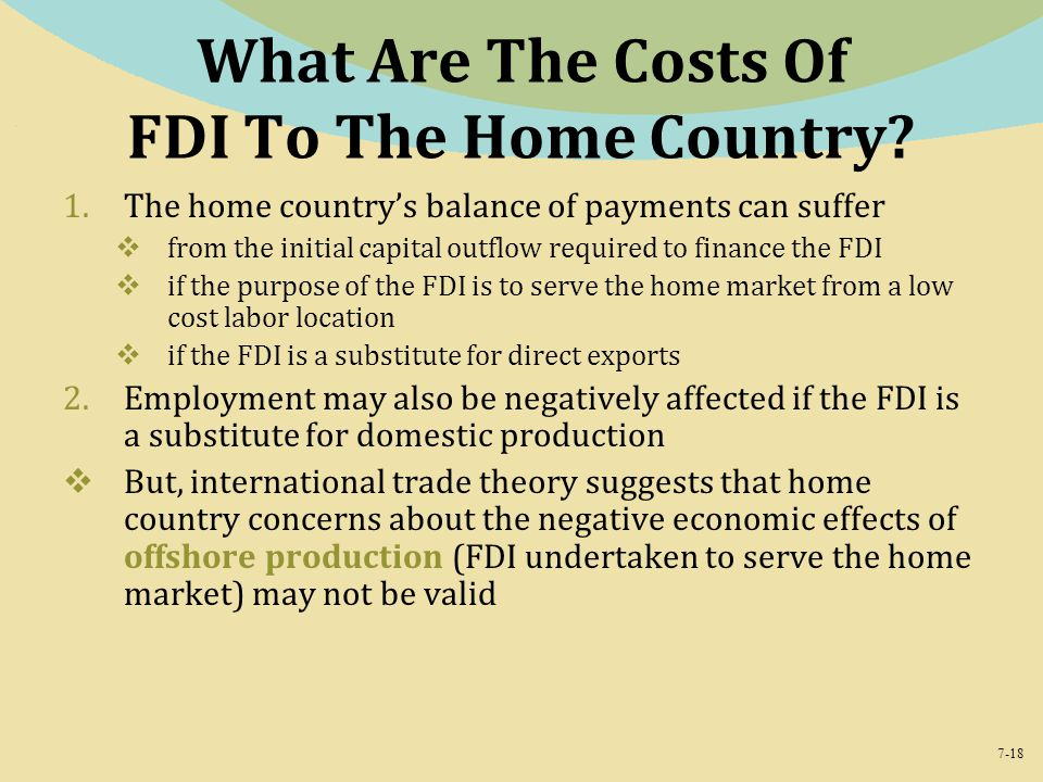 What Are The Costs Of FDI To The Home Country