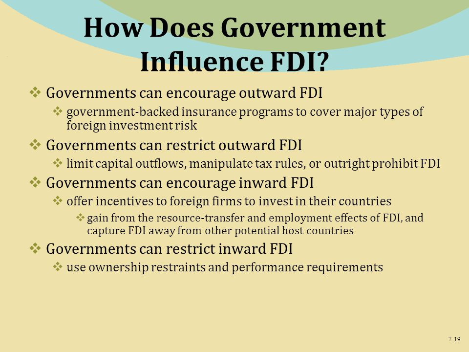 How Does Government Influence FDI