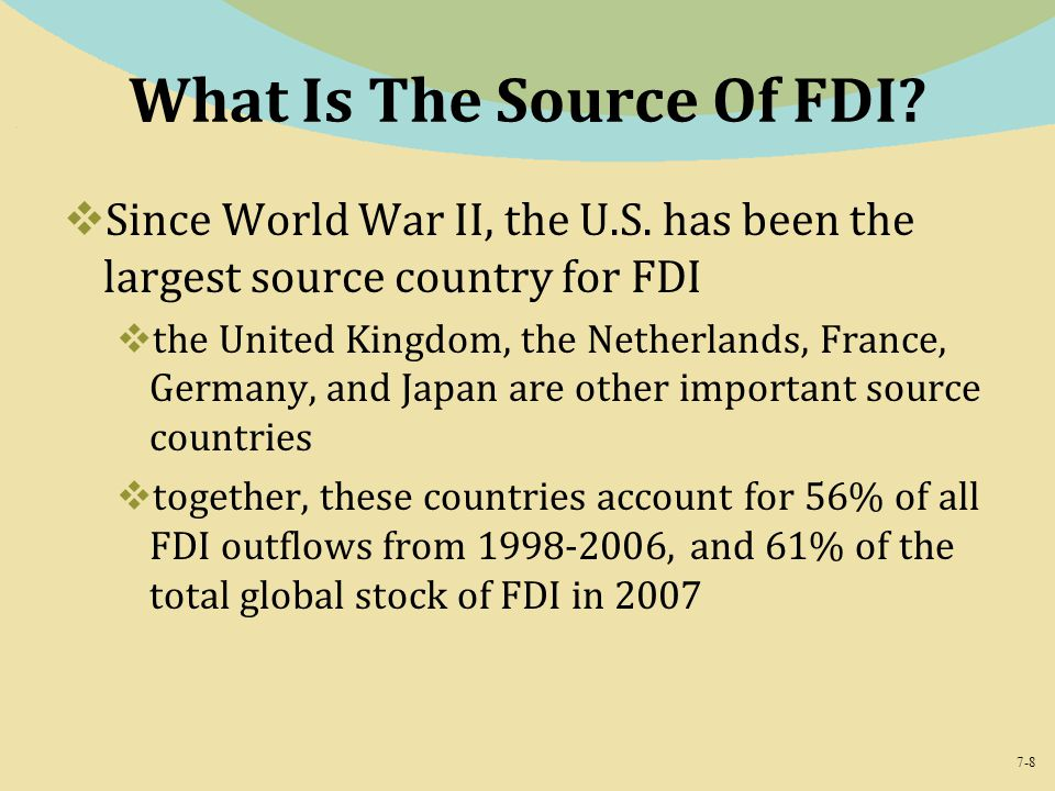 What Is The Source Of FDI
