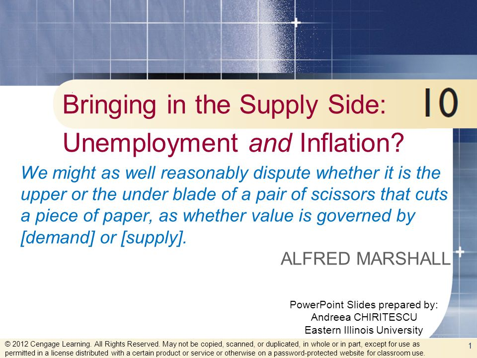 Bringing in the Supply Side: Unemployment and Inflation