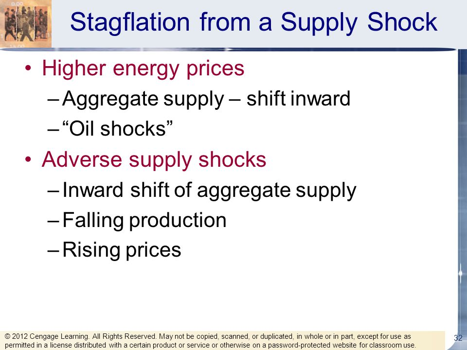 Stagflation from a Supply Shock