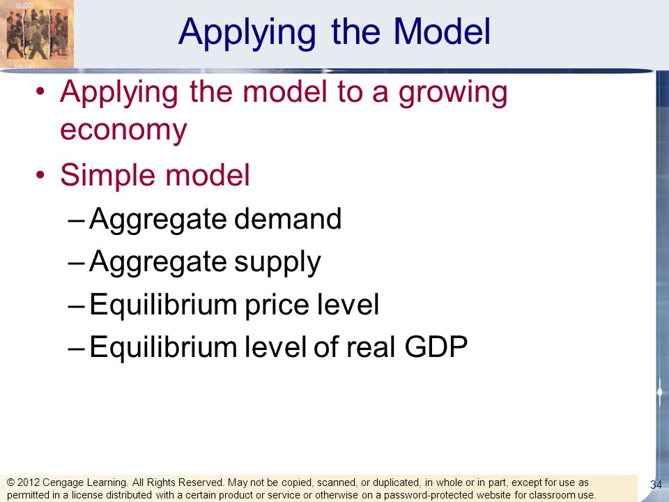 Applying the Model Applying the model to a growing economy