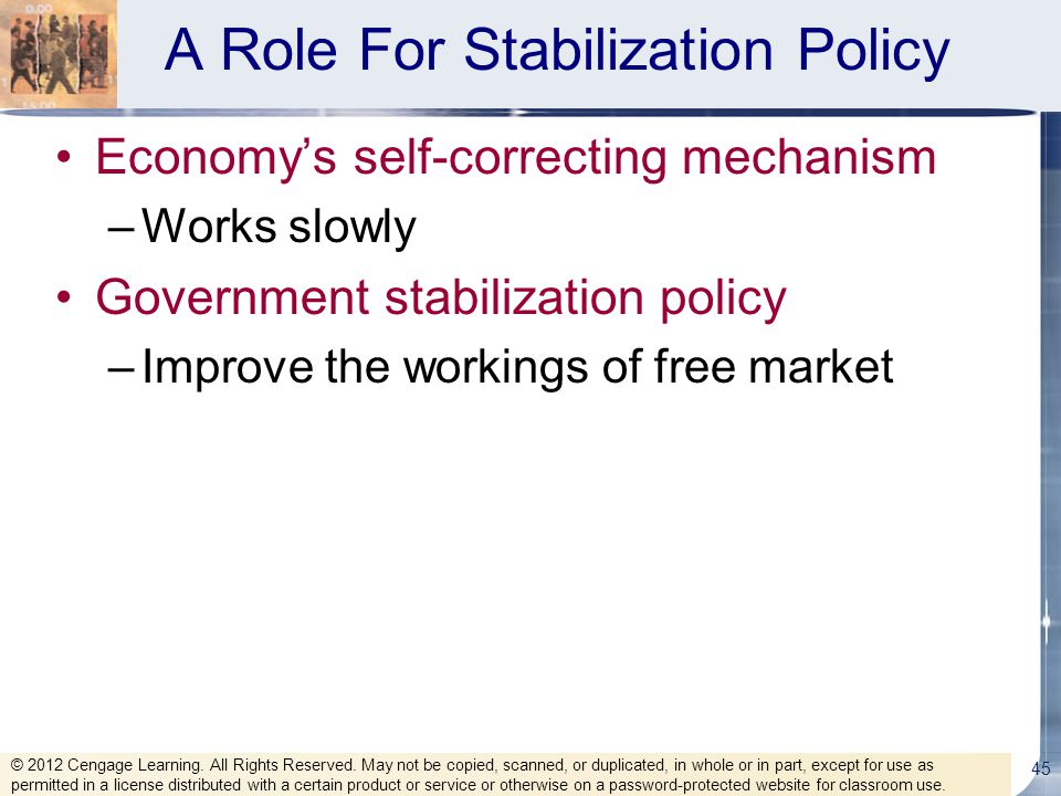 A Role For Stabilization Policy