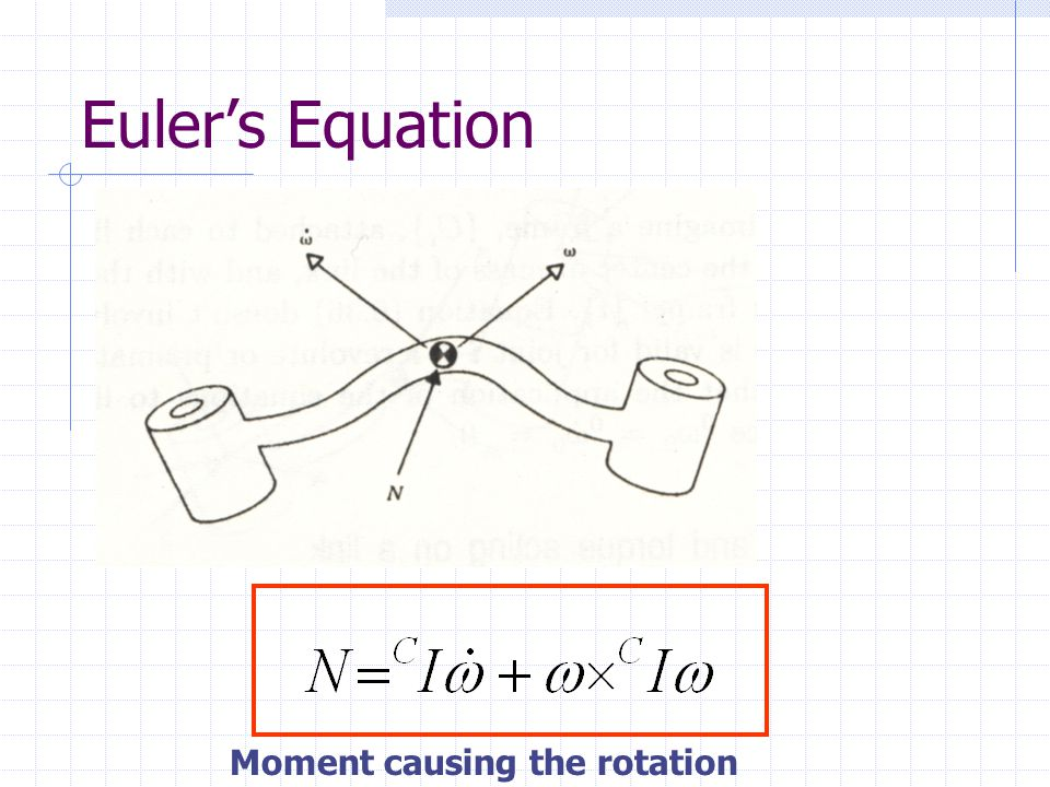 Euler's Equation Moment causing the rotation