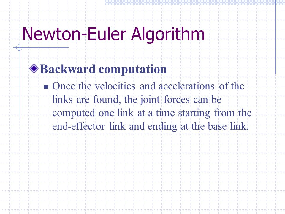 Newton-Euler Algorithm