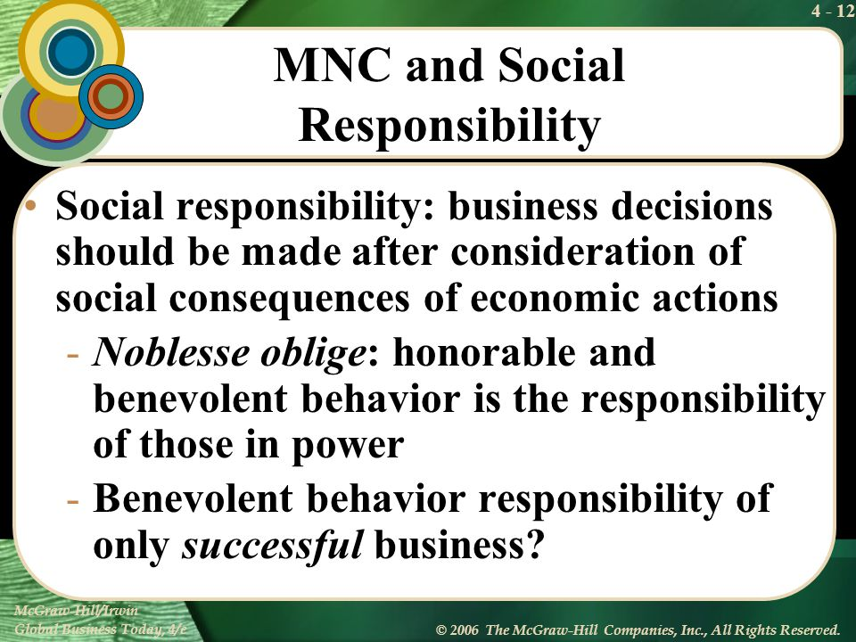 MNC and Social Responsibility