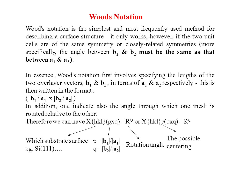 Woods Notation