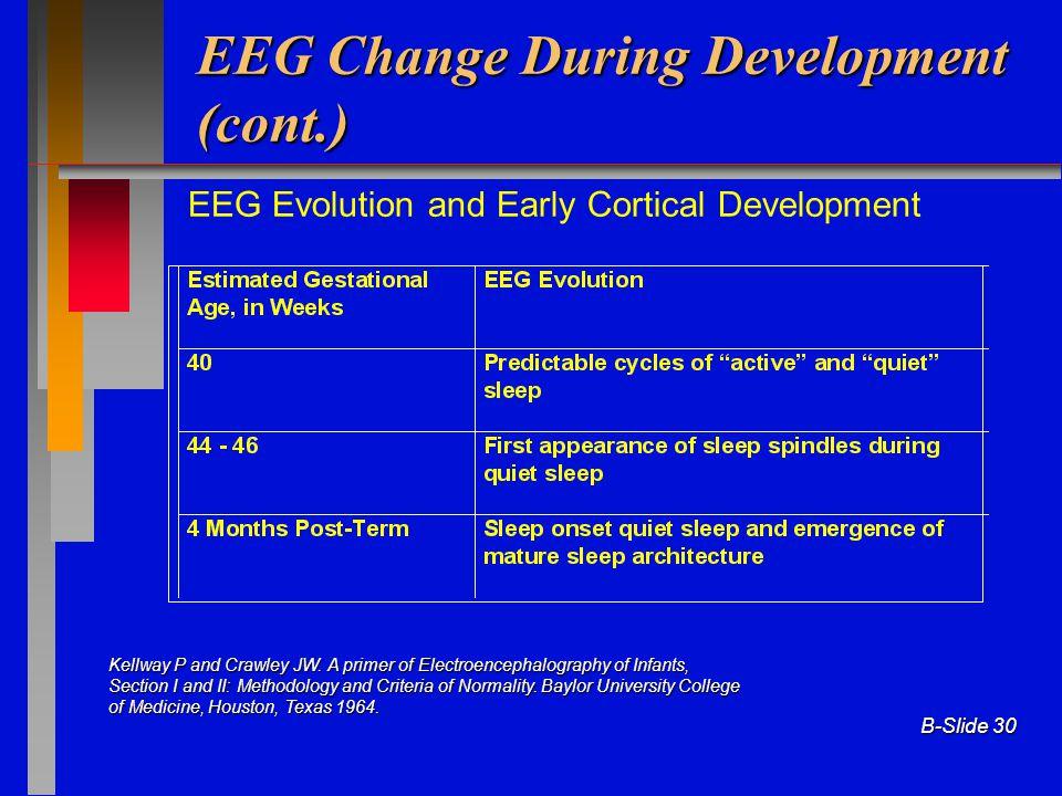 EEG Change During Development (cont.)