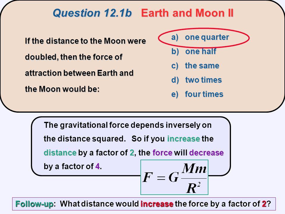 Question 12.1b Earth and Moon II