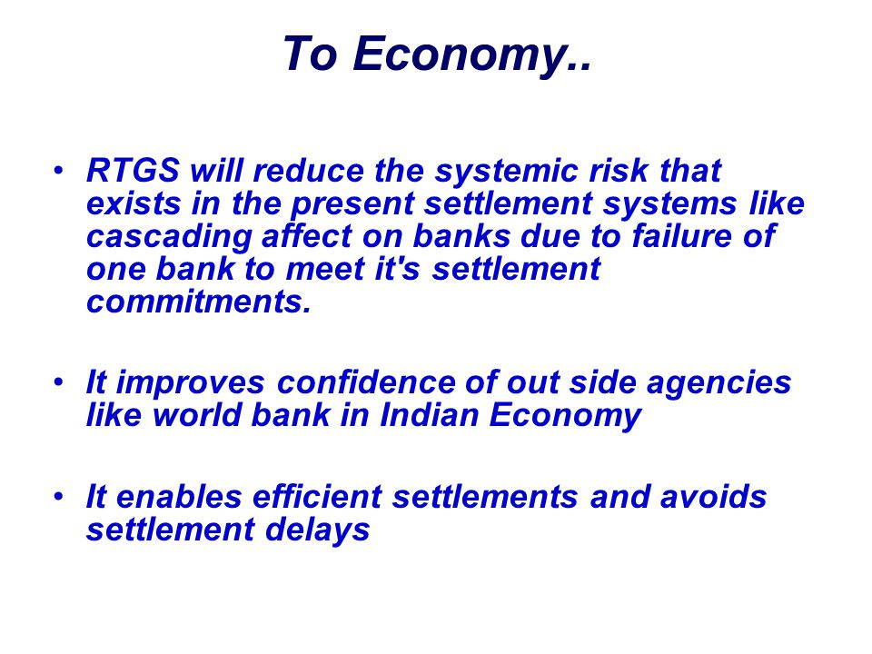 To Economy..
