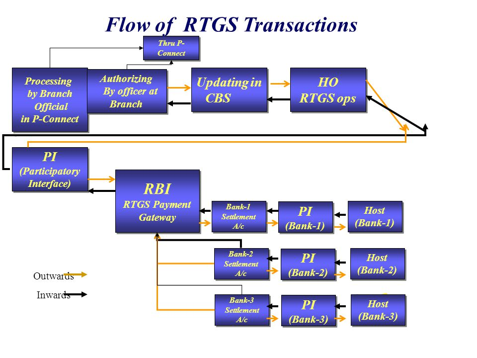 Flow of RTGS Transactions PI (Participatory Interface)