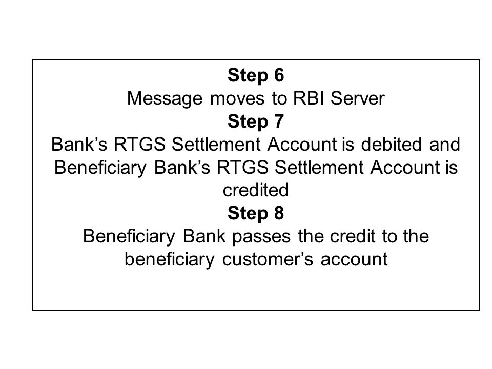 Message moves to RBI Server