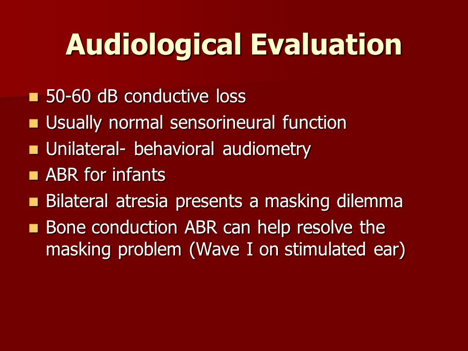 Audiological Evaluation