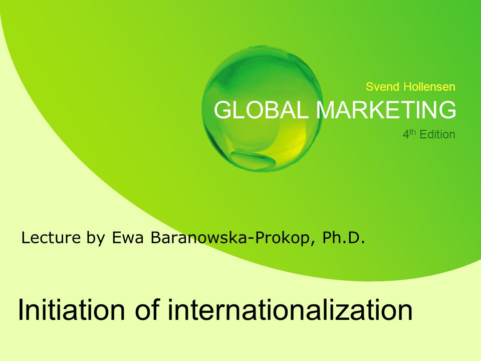 Initiation of internationalization