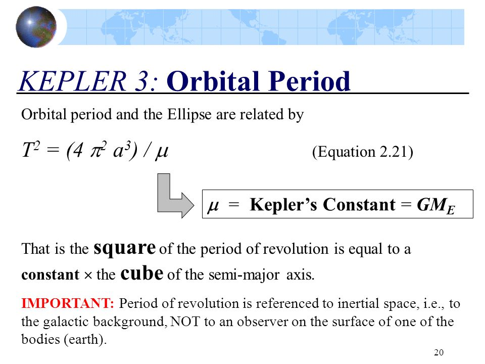 KEPLER 3: Orbital Period