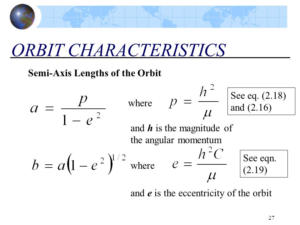 ORBIT CHARACTERISTICS