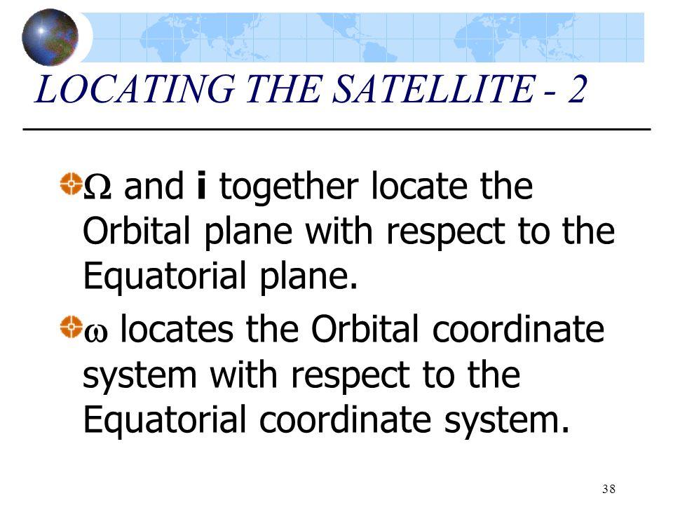 LOCATING THE SATELLITE - 2
