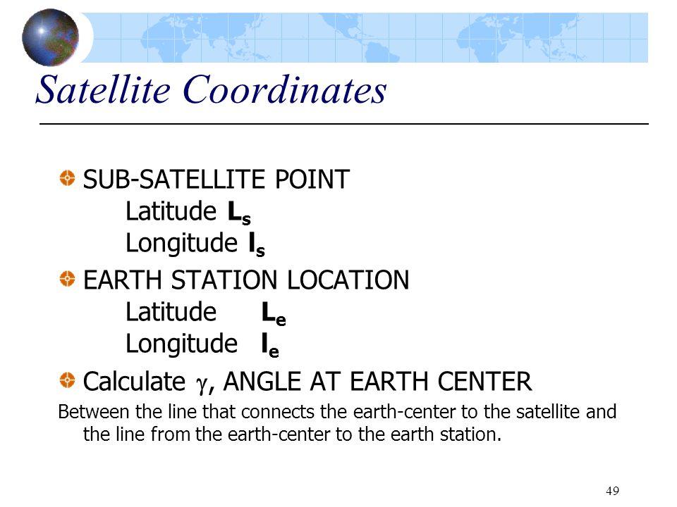 Satellite Coordinates