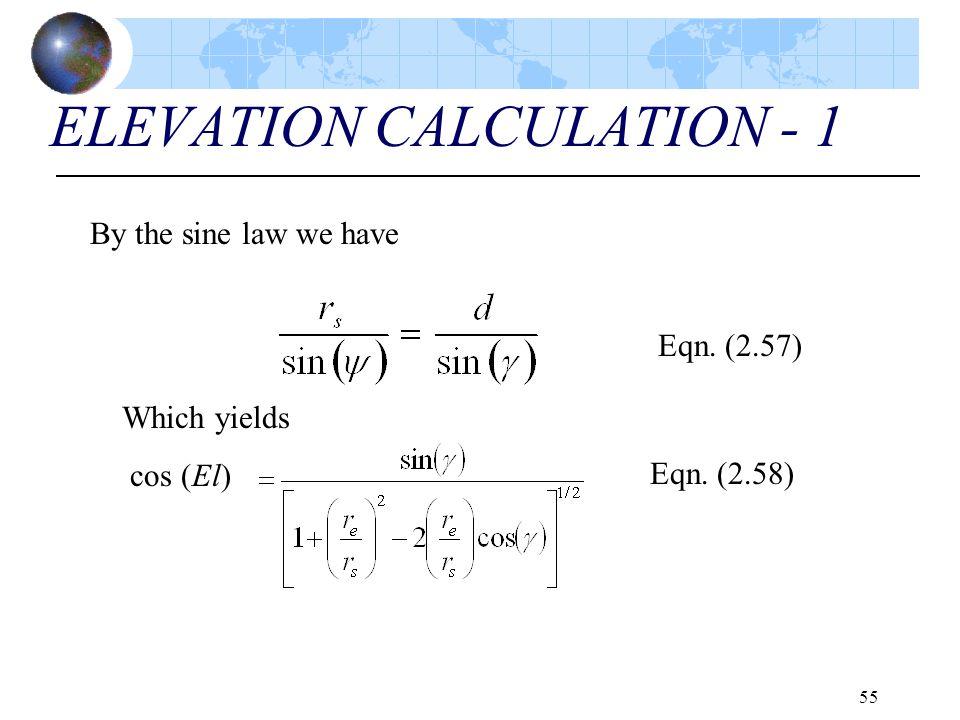 ELEVATION CALCULATION - 1